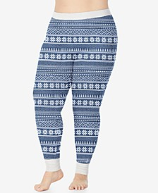 Plus Size Stretch Thermal Leggings
