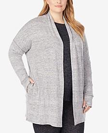 Plus Soft Knit Wrap Cardigan