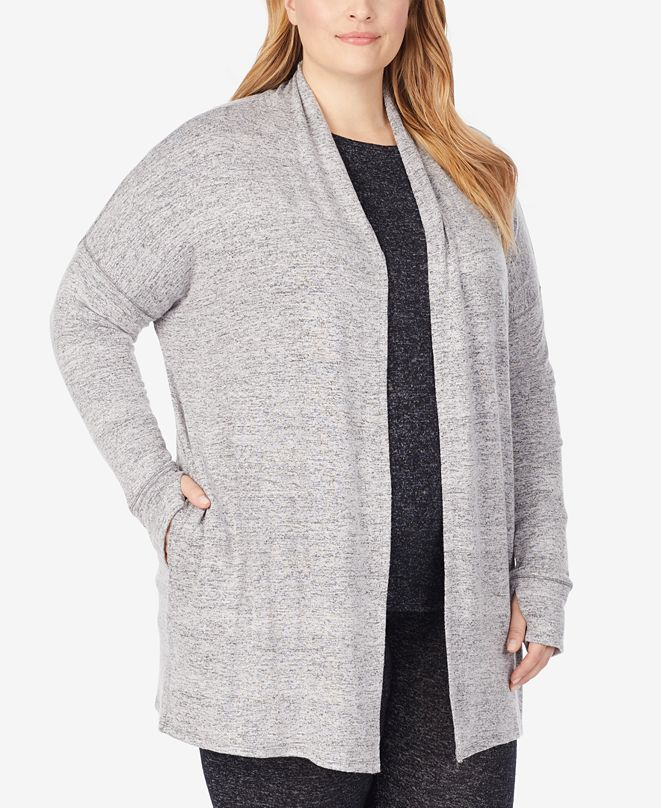 Cuddl Duds Plus Soft Knit Wrap Cardigan