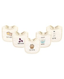 Boys and Girls Muffin Bibs, Pack of 5