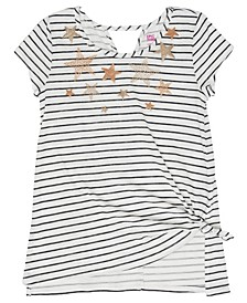 Big Girls Striped Graphic Knit Tee