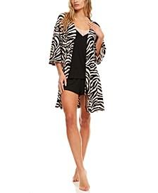 Velour Robe, Cami & Short 3pc Pajama Travel Set