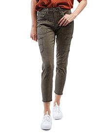 OAT High-Rise Cargo Ankle Skinny Jeans