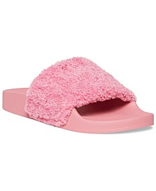 Women's Shear Furry Slides