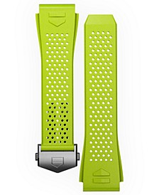 Men's Connected Lime Green Rubber Smart Watch Strap