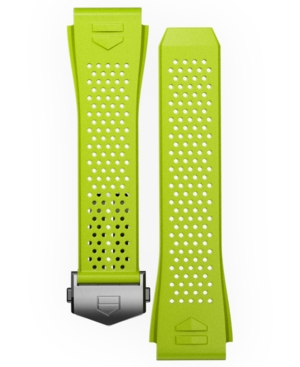 Tag-Heuer-Mens-Connected-Lime-Green-Rubber-Smart-Watch-Strap