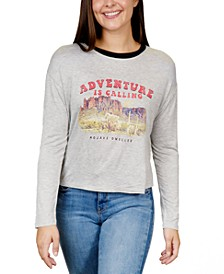 Juniors' Adventure Graphic Ringer T-Shirt