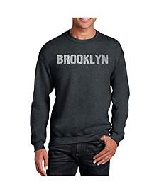 Men's Word Art Brooklyn Neighborhoods Crewneck Sweatshirt