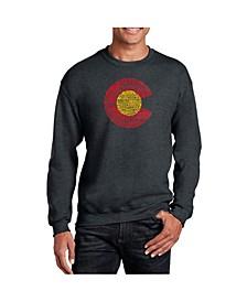 Men's Word Art Colorado Crewneck Sweatshirt