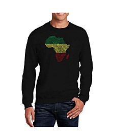 Men's Word Art Countries In Africa Crewneck Sweatshirt