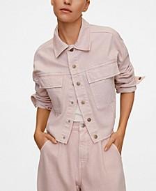 Women's Pink Denim Jacket