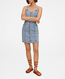 Women's Button Denim Dress