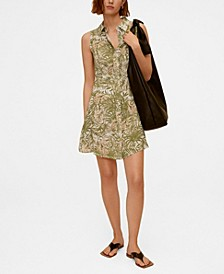 Women's Tropical Print Dress