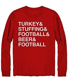 Men's Turkey Stuffing Football Beer Long Sleeve T-shirt