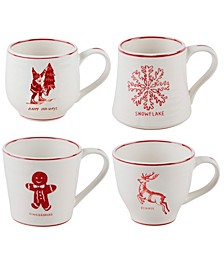 Molly Hatch Holiday Mugs, Set of 4 (58% Off) -- Comparable Value $59