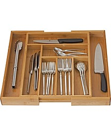 Bamboo Expandable Cutlery Drawer Organizer