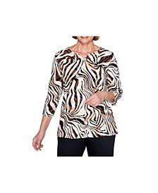 Women's Zebra Print Top