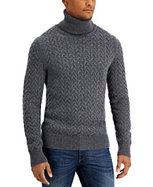Men's Classic-Fit Chunky Cable-Knit Turtleneck Sweater