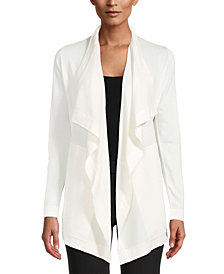 Anne Klein Shawl-Collar Draped Cardigan