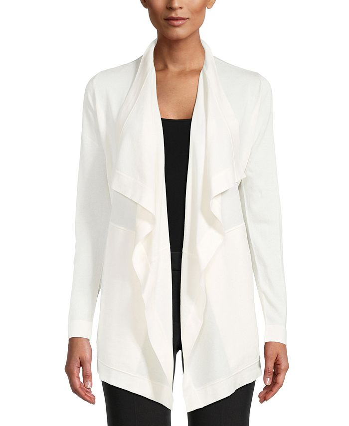 Anne Klein - Shawl-Collar Draped Cardigan