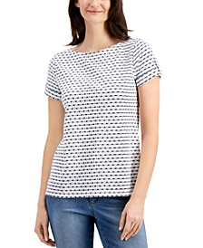 Striped Eyelet Top, Created for Macy's
