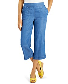 Chambray Cropped Pants, Created For Macy's