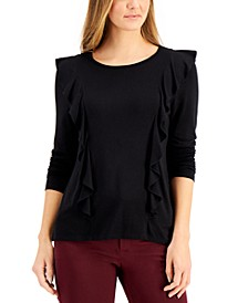 Solid Ruffle-Trimmed Top, Created for Macy's