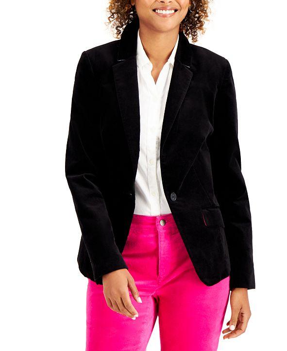Charter Club Velveteen Blazer, Created for Macy's