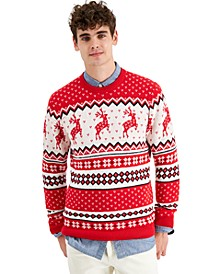 Men's Reindeer Sweater, Created for Macy's