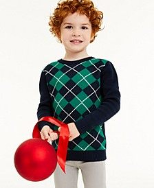 Little Boys Argyle Sweater, Created for Macy's