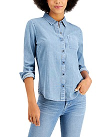Petite Boyfriend Shirt, Created For Macy's