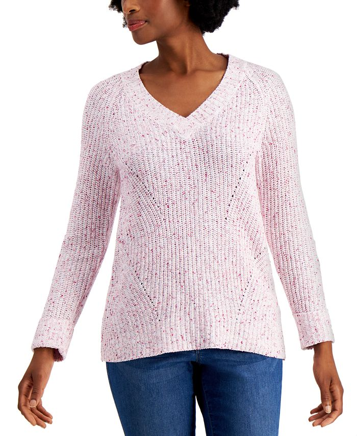Style & Co - Marled Pointelle Sweater