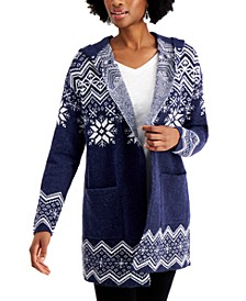 Hooded Fair Isle Cardigan, Created for Macy's