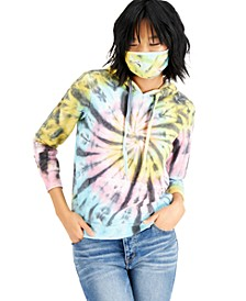 Juniors' Tie-Dye Hoodie & Mask Set