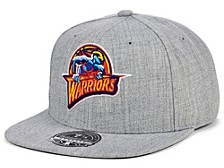 Golden State Warriors Hardwood Classic Team Heather Fitted Cap