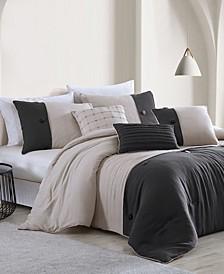 House Tillman Enzyme 6 Piece Color Block Comforter Set, King