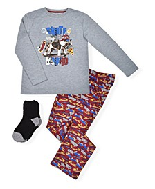 Big Boy's Top and Pant with Cosy Socks