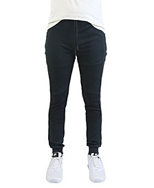 Men's Moisture Wicking Moto Zipper Pockets Joggers