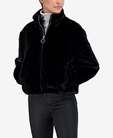 Junior's Reversible Faux Fur Bomber