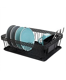 3 Piece Decorative Wire Steel Dish Rack