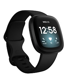 Versa 3 Black Strap Smart Watch 39mm