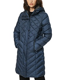 Elara Hooded Quiled Puffer Coat