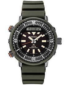 Men's Analog-Digital Prospex Diver Solar Black Rubber Strap Watch 47.8mm