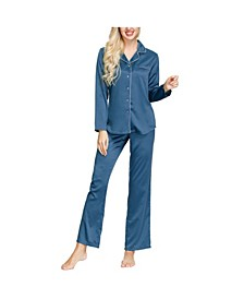 Women's Notch Top and Pant Set