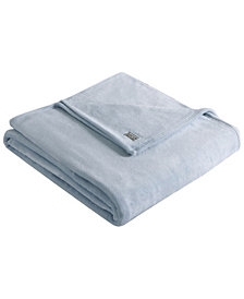 Kenneth Cole Reaction Solid Ultra Soft Plush King Blanket