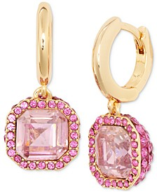 Pavé & Square Crystal Drop Earrings