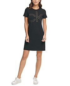 Short-Sleeve Logo Shirtdress