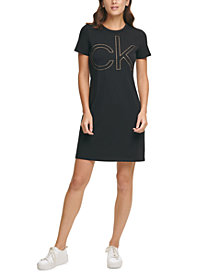 Calvin Klein Short-Sleeve Logo Shirtdress