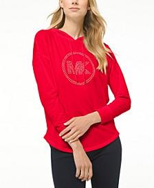 Drop-Shoulder Logo Hoodie, Regular & Petite Sizes