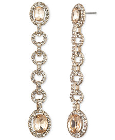 Givenchy Stone & Crystal Halo Linear Drop Earrings